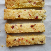 Pink Peppercorn Shortbread Fingers