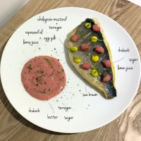 Sea Bream with Rhubarb & Tarragon