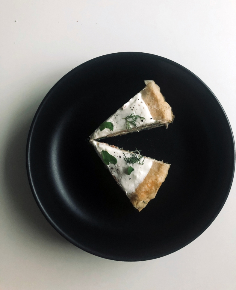 salmon crepe cake