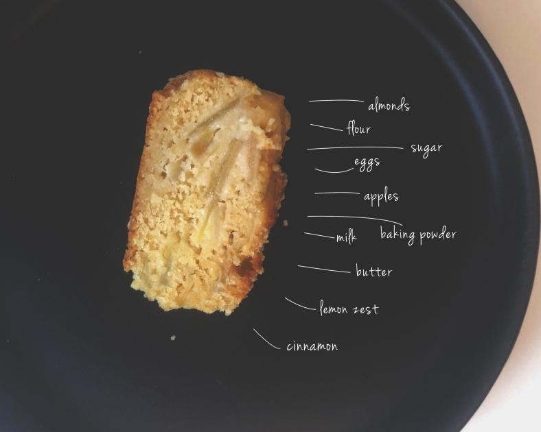 almond apple cake cinnamon